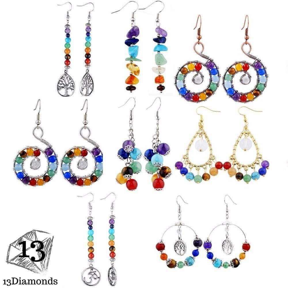Chakra Earrings Earrings