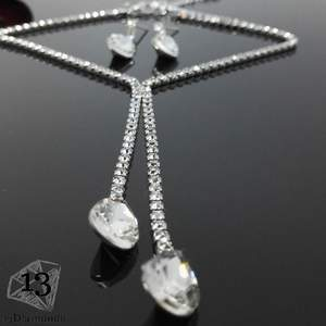 Romantic Crystal Necklace &earrings Set Sets