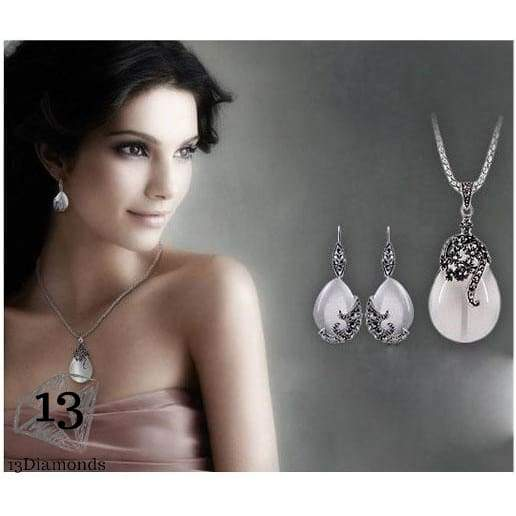 Romantic Pendant And Earring Set Sets