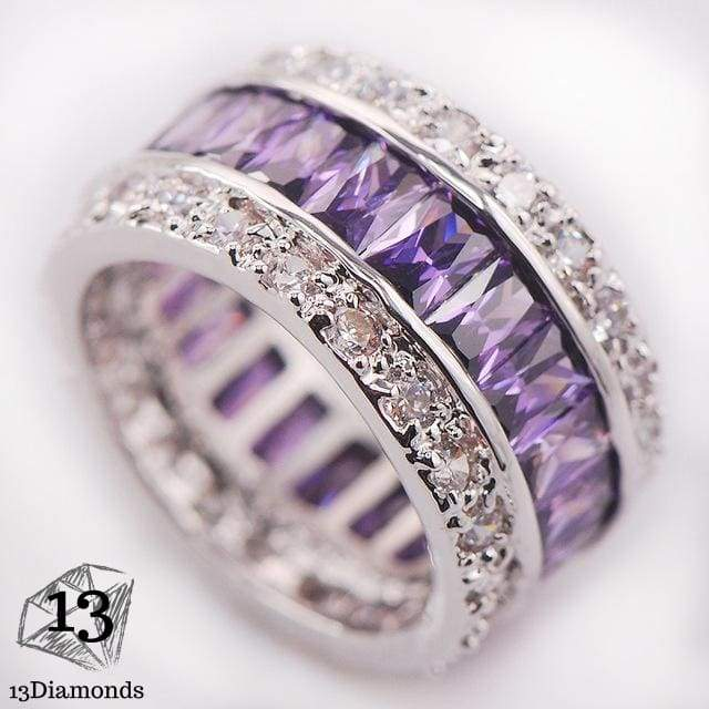 Silver Gorgeous Ring 10 / Violet Rings
