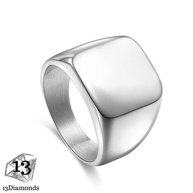 Powerful Signet Ring 10 / Silver