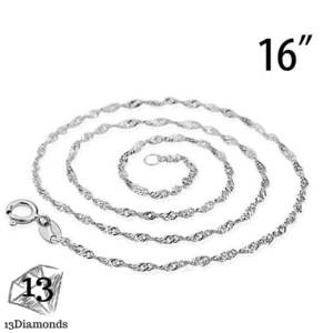 Silver Snake Chain 2 Necklace 16 Inch Necklaces
